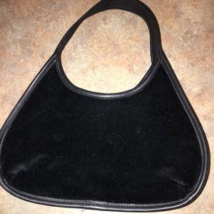 Handbags - Coach Velvet leather evening bag black